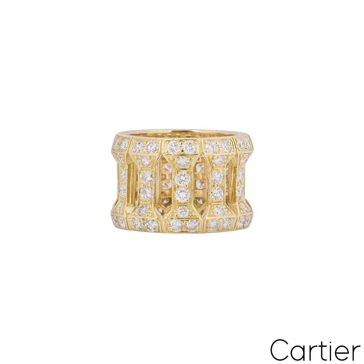 Cartier Yellow Gold Diamond Dress Ring